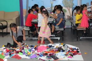 This week, SFC is offering Art Camp, where kids are creating different arts & crafts, such as hand puppets!