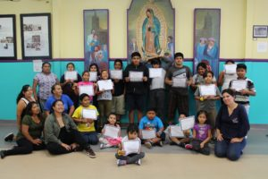 Last week, our day camp ended with a graduation ceremony, where each camper received a certificate of completion for a whole week of learning about science at the California Science Center, music at the Grammy Museum, fitness through Zumba and yoga, and the importance of giving back by volunteering.